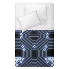A Completely Seamless Tile Able Techy Circuit Background Duvet Cover (single Size) by Simbadda