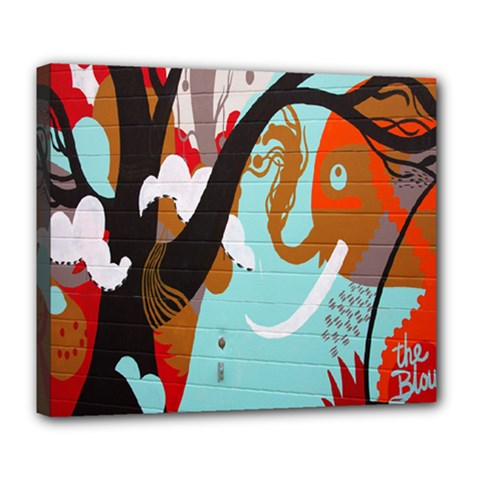 Colorful Graffiti In Amsterdam Deluxe Canvas 24  X 20   by Simbadda