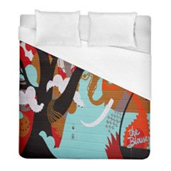 Colorful Graffiti In Amsterdam Duvet Cover (full/ Double Size) by Simbadda