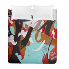 Colorful Graffiti In Amsterdam Duvet Cover Double Side (full/ Double Size) by Simbadda