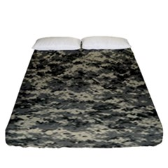 Us Army Digital Camouflage Pattern Fitted Sheet (california King Size) by Simbadda