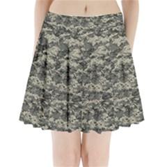 Us Army Digital Camouflage Pattern Pleated Mini Skirt by Simbadda