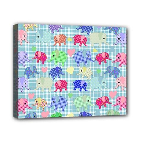 Cute Elephants  Canvas 10  X 8  by Valentinaart