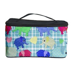 Cute Elephants  Cosmetic Storage Case by Valentinaart