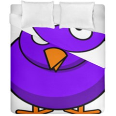 Cartoon Bird Purple Duvet Cover Double Side (california King Size) by Alisyart