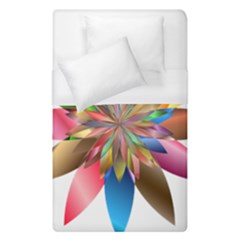 Chromatic Flower Gold Rainbow Duvet Cover (single Size) by Alisyart