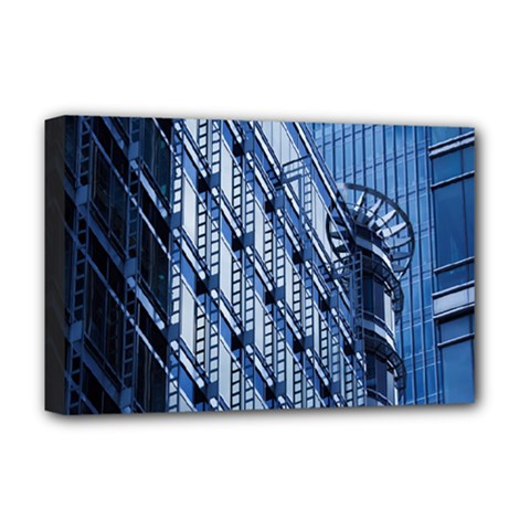 Building Architectural Background Deluxe Canvas 18  X 12   by Simbadda