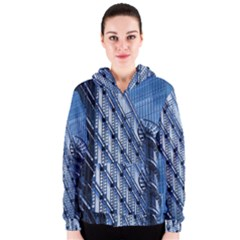Building Architectural Background Women s Zipper Hoodie by Simbadda