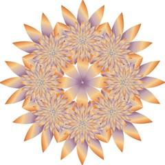 Chromatic Flower Gold Star Floral Golf Umbrellas by Alisyart