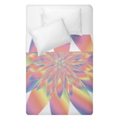 Chromatic Flower Gold Rainbow Star Duvet Cover Double Side (single Size) by Alisyart