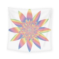 Chromatic Flower Gold Rainbow Star Square Tapestry (small) by Alisyart