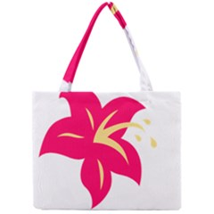 Flower Floral Lily Blossom Red Yellow Mini Tote Bag by Alisyart