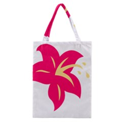 Flower Floral Lily Blossom Red Yellow Classic Tote Bag by Alisyart