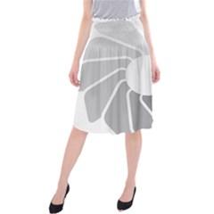 Flower Transparent Shadow Grey Midi Beach Skirt by Alisyart