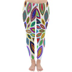 Chromatic Flower Petals Rainbow Classic Winter Leggings by Alisyart