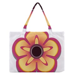 Flower Floral Hole Eye Star Medium Zipper Tote Bag by Alisyart