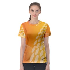 Abstract Orange Background Women s Sport Mesh Tee