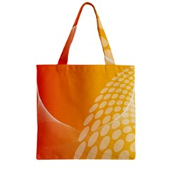 Abstract Orange Background Zipper Grocery Tote Bag by Simbadda