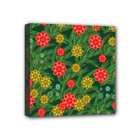 Completely Seamless Tile With Flower Mini Canvas 4  X 4  by Simbadda
