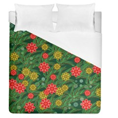 Completely Seamless Tile With Flower Duvet Cover (queen Size) by Simbadda