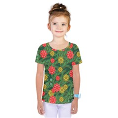 Completely Seamless Tile With Flower Kids  One Piece Tee by Simbadda