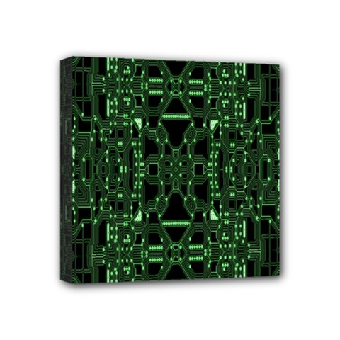 An Overly Large Geometric Representation Of A Circuit Board Mini Canvas 4  X 4  by Simbadda