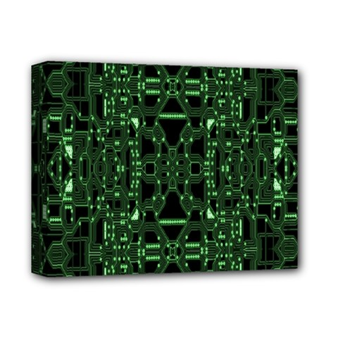 An Overly Large Geometric Representation Of A Circuit Board Deluxe Canvas 14  X 11  by Simbadda