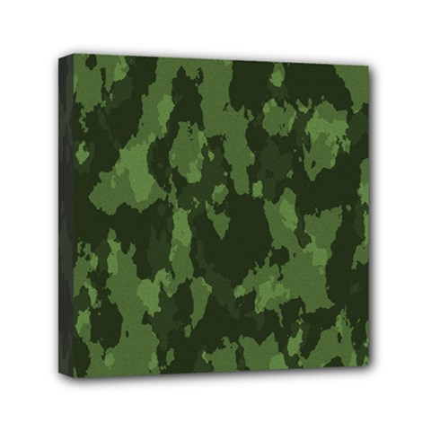 Camouflage Green Army Texture Mini Canvas 6  x 6  by Simbadda