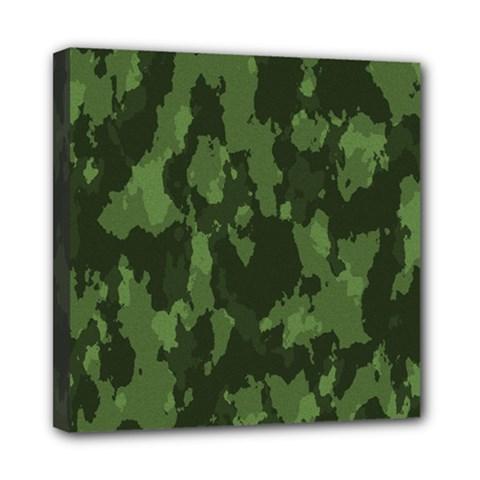 Camouflage Green Army Texture Mini Canvas 8  X 8  by Simbadda