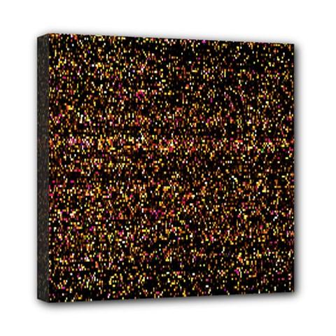 Pixel Pattern Colorful And Glowing Pixelated Mini Canvas 8  X 8  by Simbadda