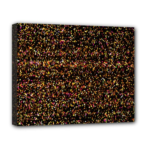 Pixel Pattern Colorful And Glowing Pixelated Deluxe Canvas 20  X 16   by Simbadda