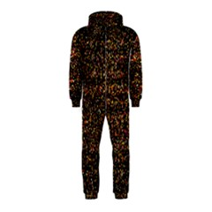 Pixel Pattern Colorful And Glowing Pixelated Hooded Jumpsuit (kids) by Simbadda