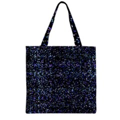 Pixel Colorful And Glowing Pixelated Pattern Grocery Tote Bag by Simbadda
