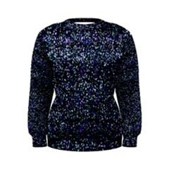 Pixel Colorful And Glowing Pixelated Pattern Women s Sweatshirt by Simbadda