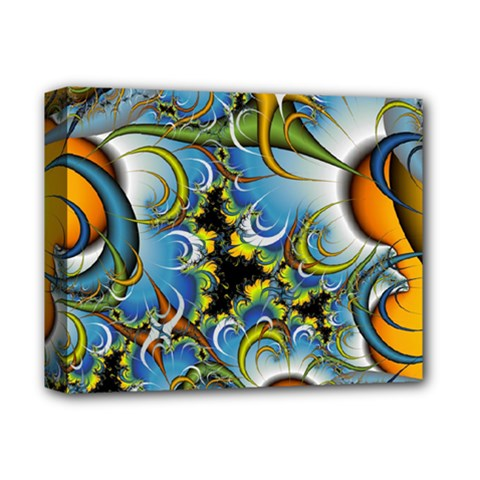 Fractal Background With Abstract Streak Shape Deluxe Canvas 14  X 11  by Simbadda