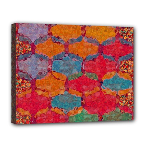 Abstract Art Pattern Canvas 14  X 11  by Simbadda