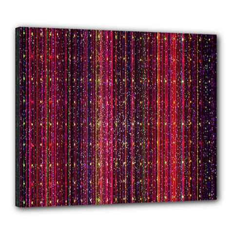 Colorful And Glowing Pixelated Pixel Pattern Canvas 24  X 20  by Simbadda