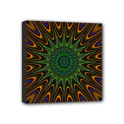 Vibrant Colorful Abstract Pattern Seamless Mini Canvas 4  X 4  by Simbadda