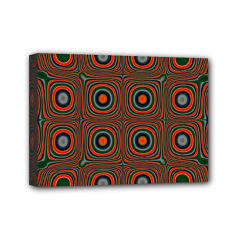 Vibrant Pattern Seamless Colorful Mini Canvas 7  X 5  by Simbadda