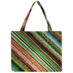 Colorful Stripe Extrude Background Mini Tote Bag