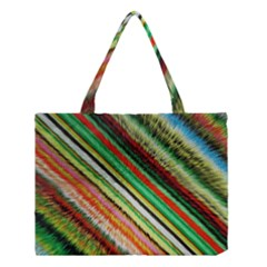 Colorful Stripe Extrude Background Medium Tote Bag by Simbadda