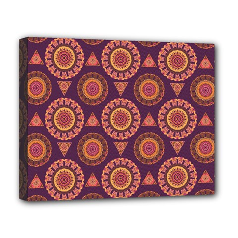 Abstract Seamless Mandala Background Pattern Deluxe Canvas 20  X 16   by Simbadda