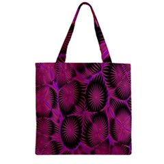 Self Similarity And Fractals Zipper Grocery Tote Bag by Simbadda
