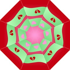 Money Green Pink Red Broken Heart Dollar Sign Folding Umbrellas by Alisyart