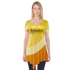 Orange Lime Yellow Fruit Fress Short Sleeve Tunic  by Alisyart