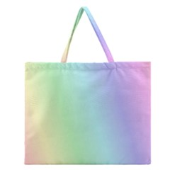 Multi Color Pastel Background Zipper Large Tote Bag by Simbadda