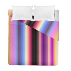Multi Color Vertical Background Duvet Cover Double Side (full/ Double Size) by Simbadda
