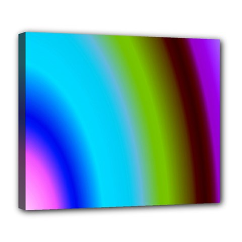 Multi Color Stones Wall Multi Radiant Deluxe Canvas 24  X 20   by Simbadda