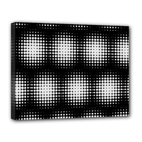 Black And White Modern Wallpaper Canvas 14  X 11  by Simbadda