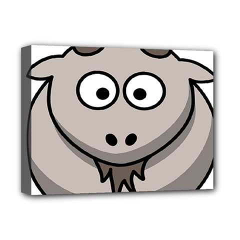 Goat Sheep Animals Baby Head Small Kid Girl Faces Face Deluxe Canvas 16  X 12   by Alisyart